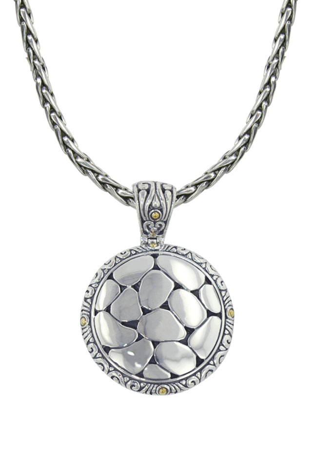 Effy 925 Sterling Silver and 18K Gold Round Pendant