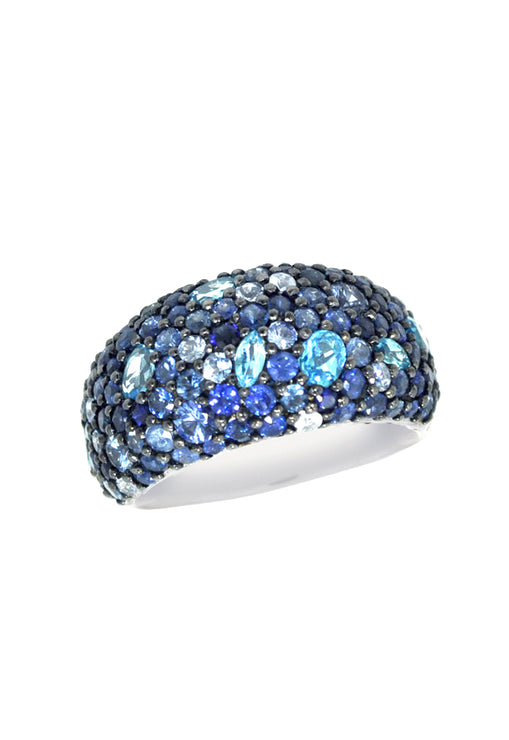 Effy 925 Sapphire and Blue Topaz Ring, 4.67 TCW