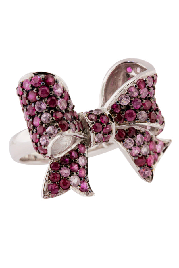 Effy 925 Ruby and Pink Sapphire Bowtie Ring, 3.91 TCW