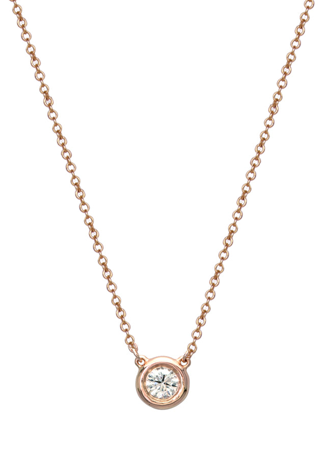 Effy 14K Rose Gold Diamond Pendant, 0.20 TCW