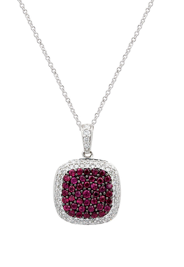 Ruby and Diamond Pendant, 1.37 TCW