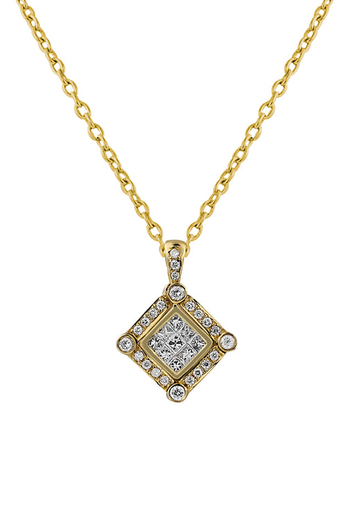 Diversa 14K Yellow Gold Diamond Pendant, .57 TCW