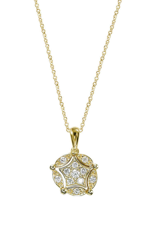 Effy Diversa 14K Yellow Gold Diamond 2-Way Pendant, 0.13 TCW