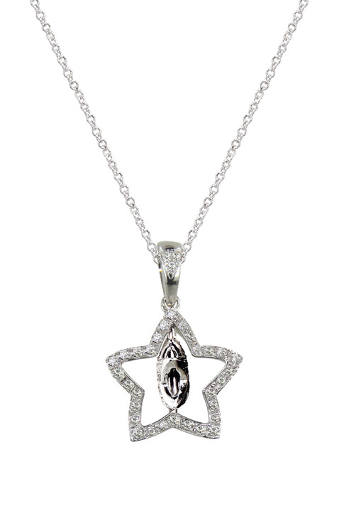 Black and White Diamond Pendant, .27 TCW