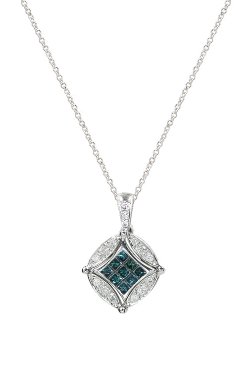 DiVersa Blue and White Diamond Pendant, .56 TCW