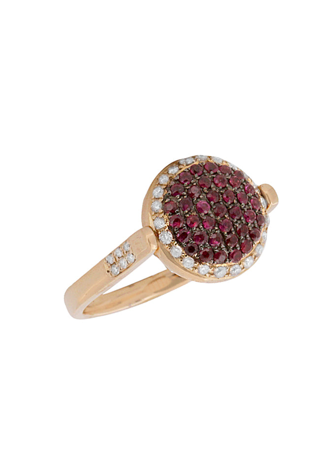 DiVersa 18K Rose Gold Ruby & Diamond Ring, 1.24 TCW