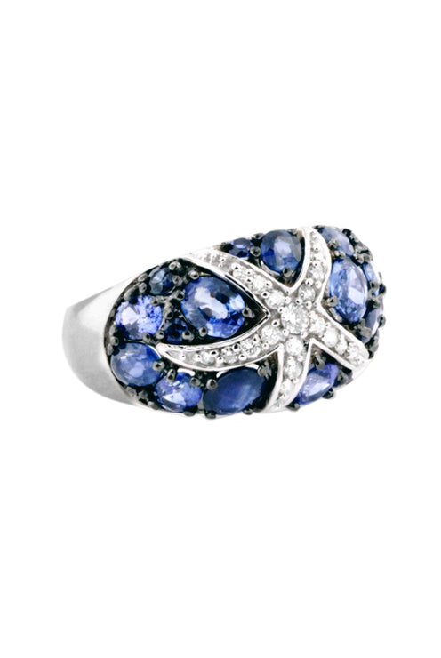 Watercolors Sapphire and Diamond Ring, 3.89 TCW