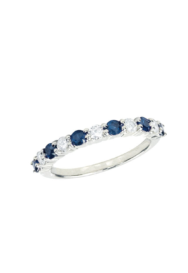 Gemma Blue Sapphire and Diamond Ring, 0.88 TCW