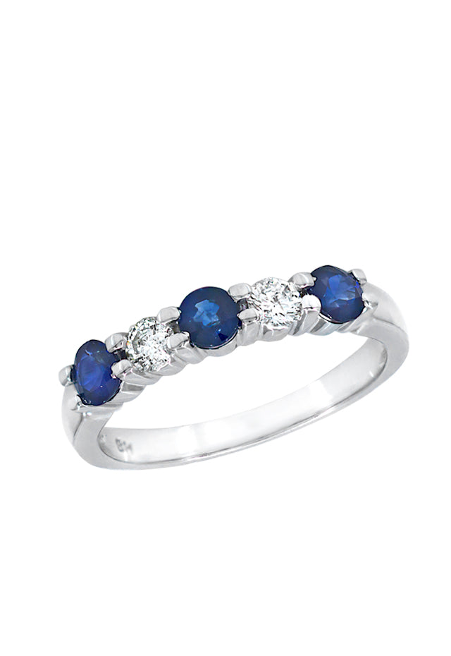 Gemma Blue Sapphire and Diamond Ring, 1.14 TCW