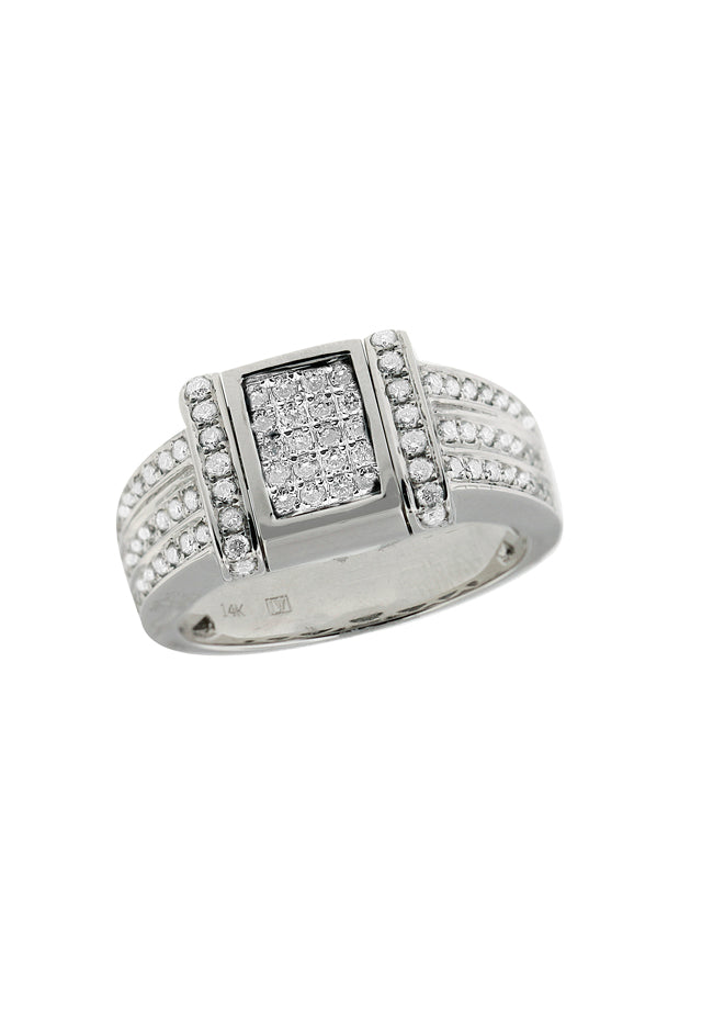 Effy Diversa 14K White Gold Blue and White Diamond 2-Way Ring, 0.76 TCW