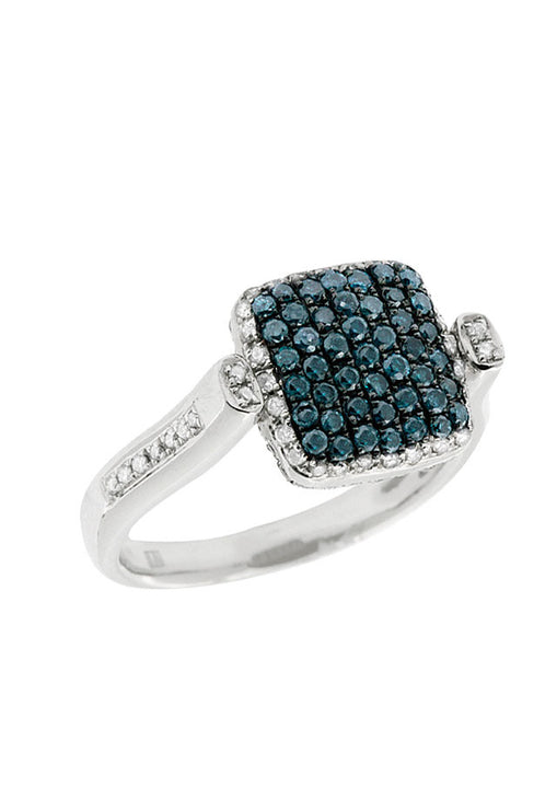 DiVersa Blue and White Diamond Ring, 1.32 TCW