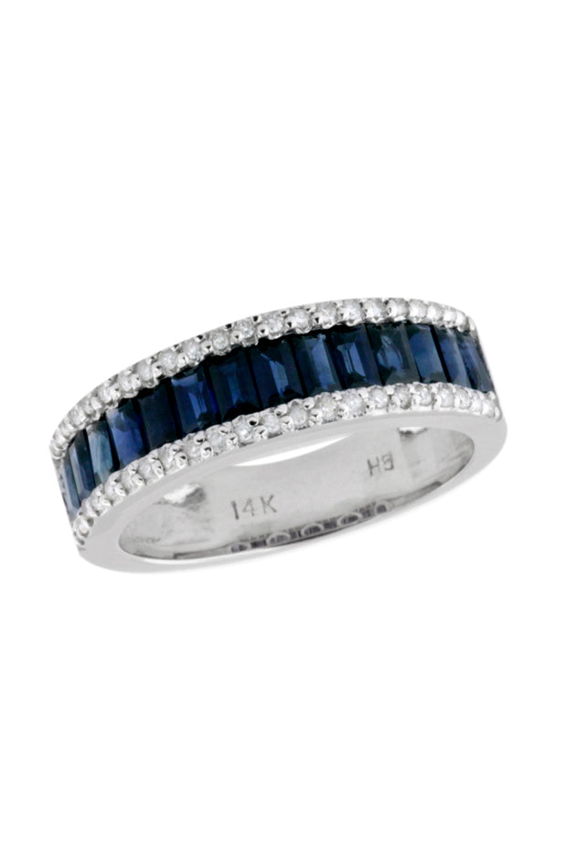 Gemma Blue Sapphire and Diamond Ring, 1.82 TCW