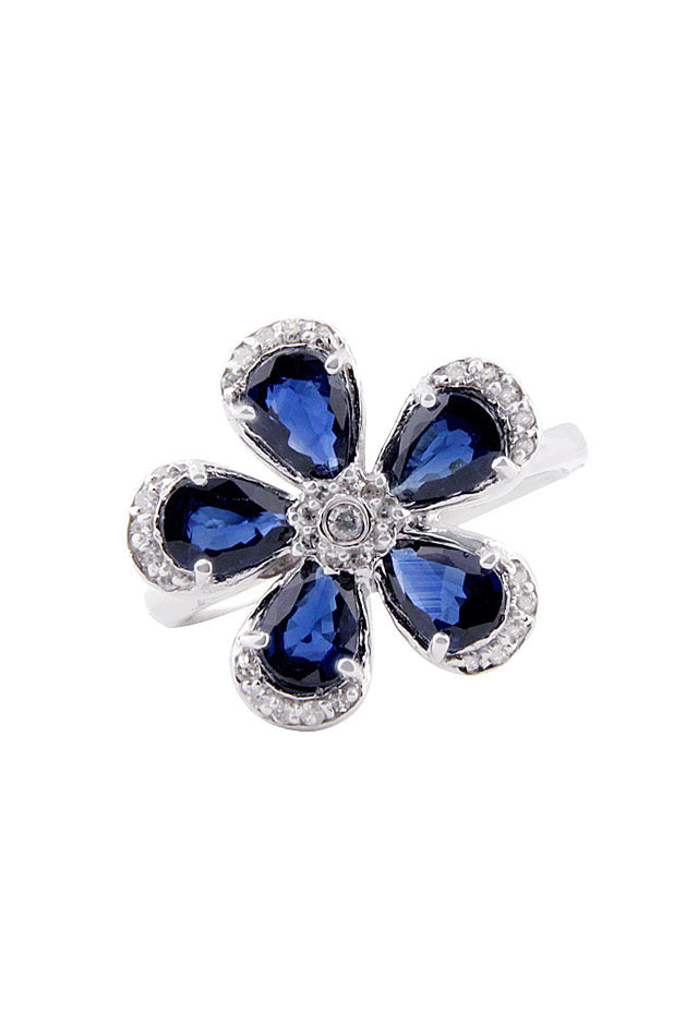 Jardin Bloom Sapphire and Diamond Ring