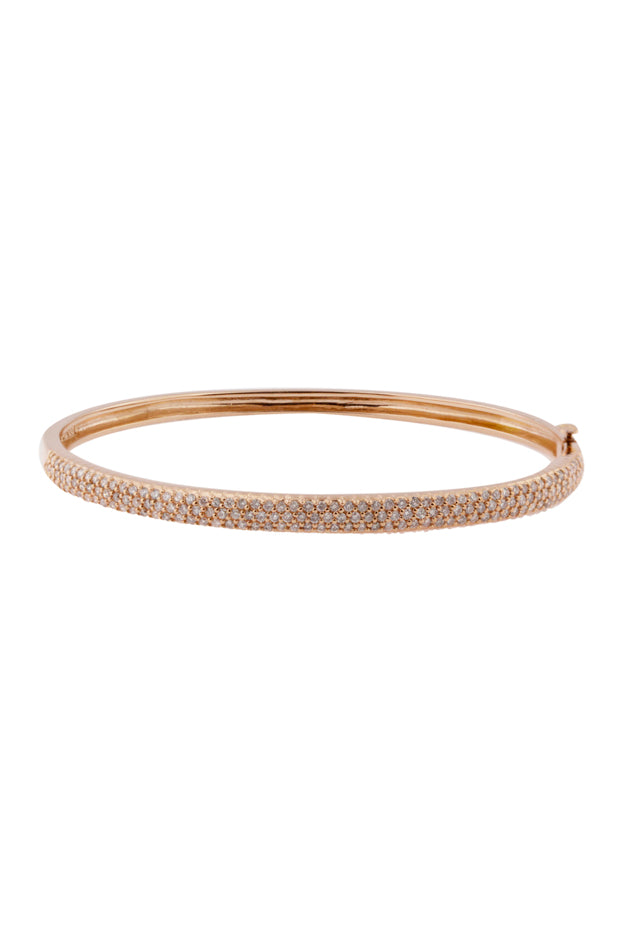 Effy 14K Rose Gold Diamond Pave Bangle, 1.20 TCW