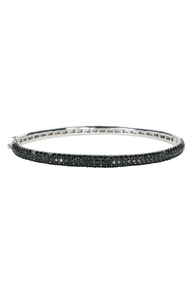 Effy 14K White Gold Black Diamond Bangle, 3.12 TCW