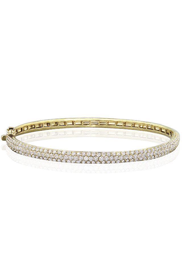 Pave Classica Diamond Bangle, 3.15 TCW