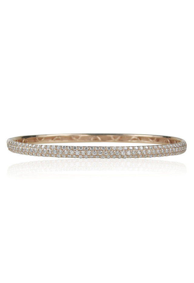 Pave Classica Rose Gold Diamond Bangle