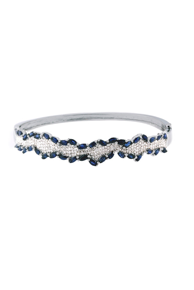 Effy Gemma 14K White Gold Blue Sapphire & Diamond Bangle, 5.27 TCW