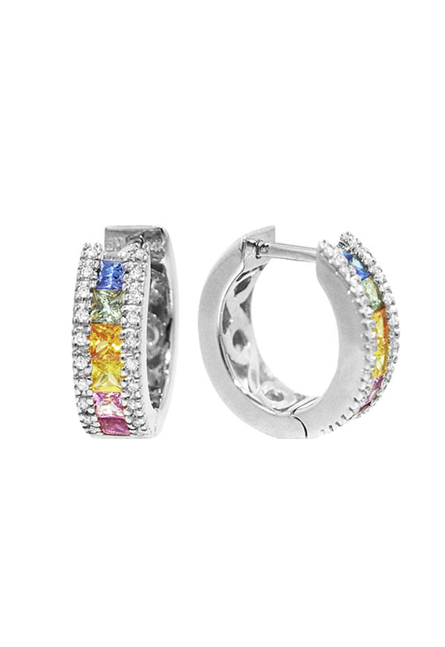 Effy Watercolors 14K White Gold Sapphire & Diamond Earrings, 1.76 TCW