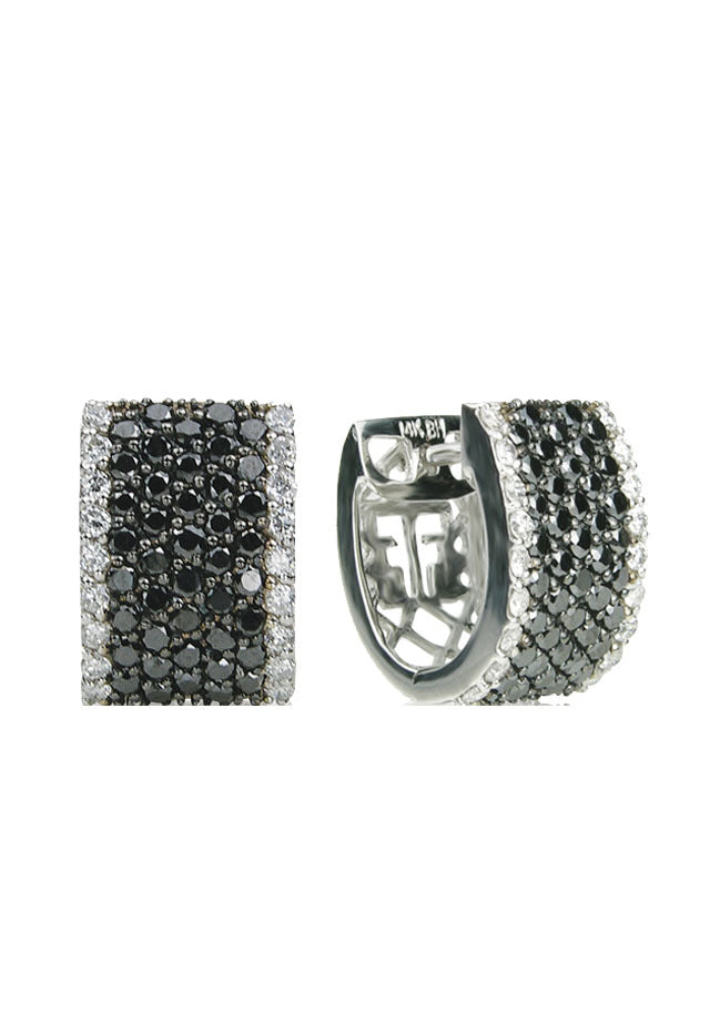 Effy 14K White Gold Black and White Diamond Earrings, 1.97 TCW