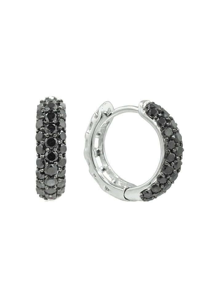 Prism Black Diamond Earrings, 1.0 TCW