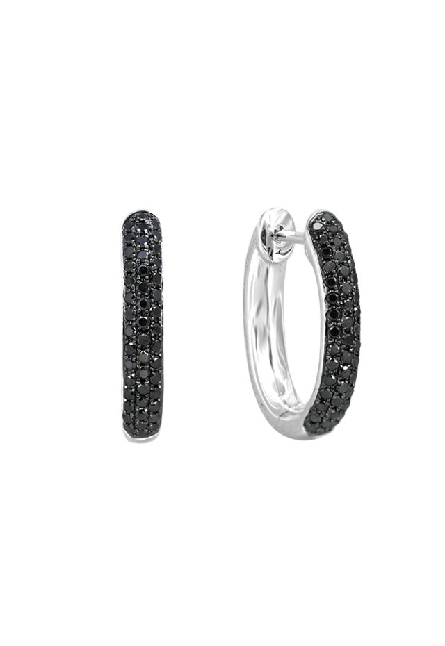 Prism Black Diamond 14K White Gold Earrings, .72 TCW