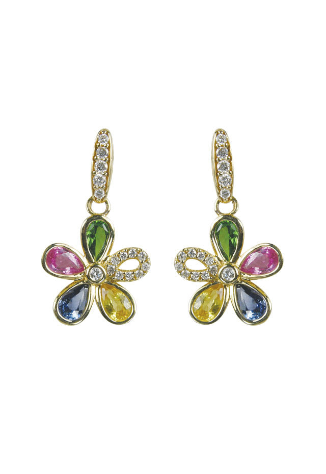 Effy Watercolors 14K Yellow Gold Multi Sapphire Earrings, 2.50 TCW