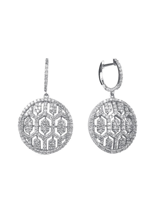 Pave Classica Maze Diamond Earrings, 1.35 TCW