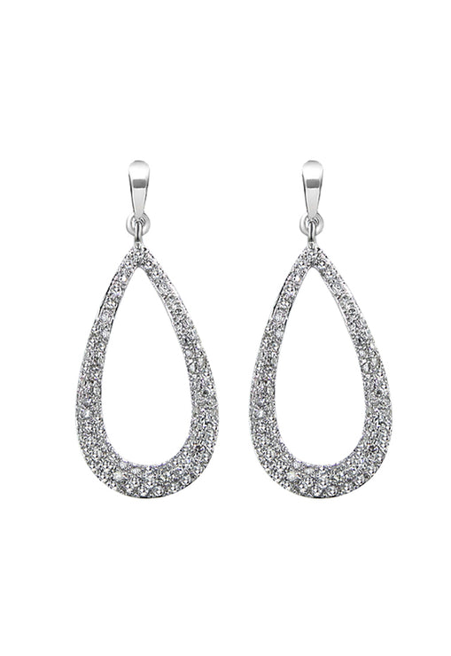 Pave Classica Diamond Dangle Earrings, 0.66 TCW