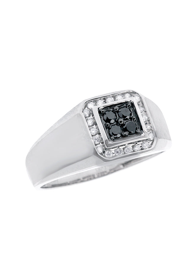 Effy Men's Black Diamond Ring, .32 TCW