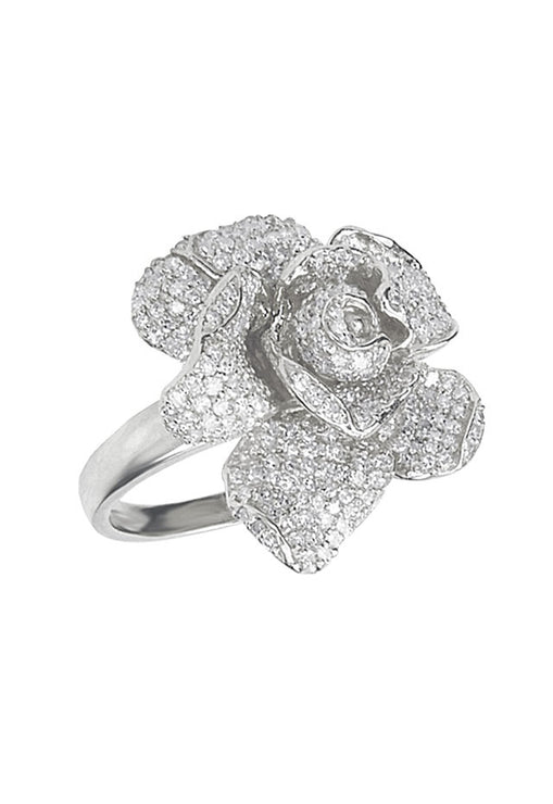 Effy Jardin 14K White Gold Diamond Flower Ring, 1.12 TCW