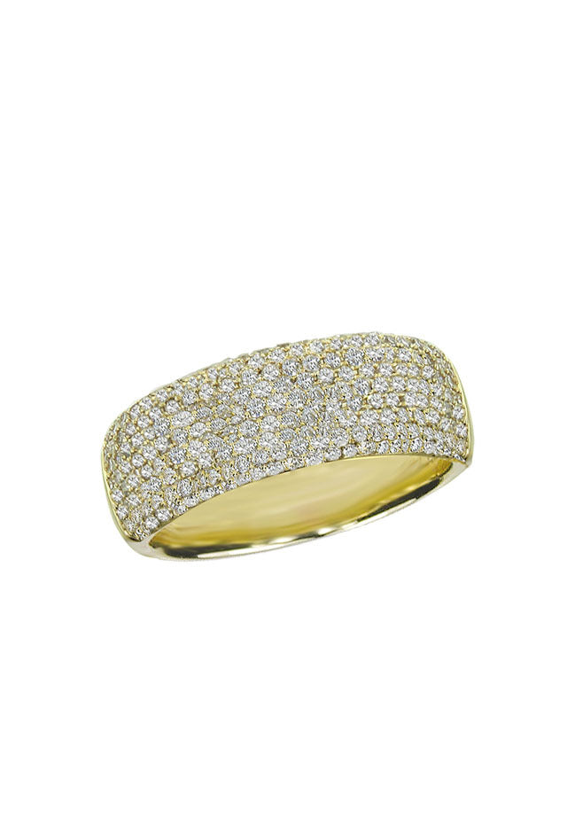 Effy 14K Yellow Gold Diamond Pave Ring, 0.99 TCW