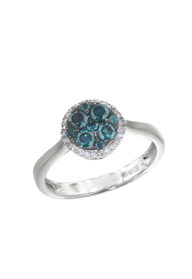 Prism Bella Bleu Diamond Ring, 0.69 TCW