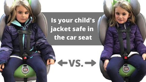 testing a jacket for the car seat