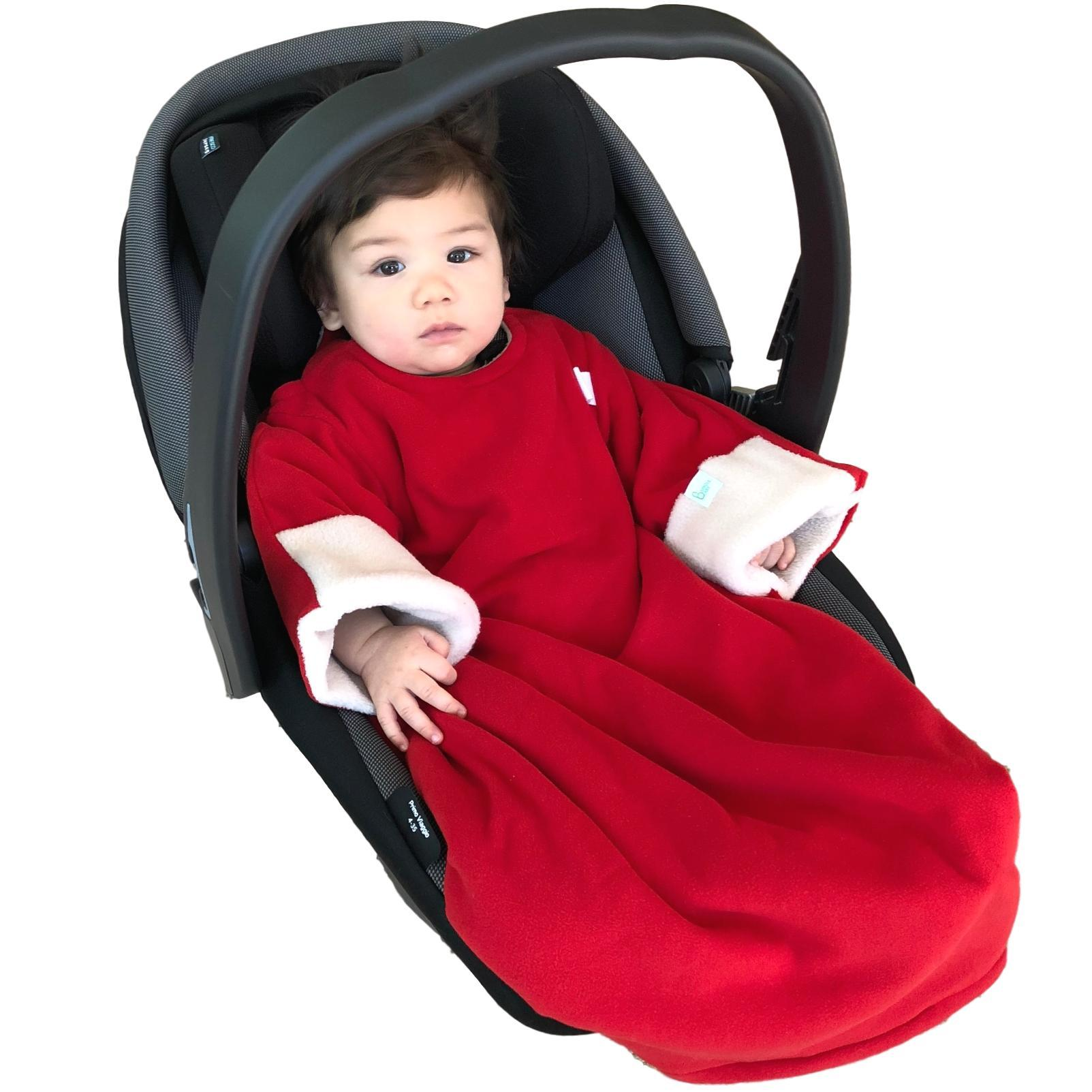 Baby Car Seat Blanket - Red