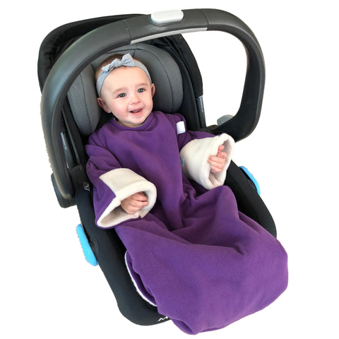 Baby Car Seat Blanket - Purple