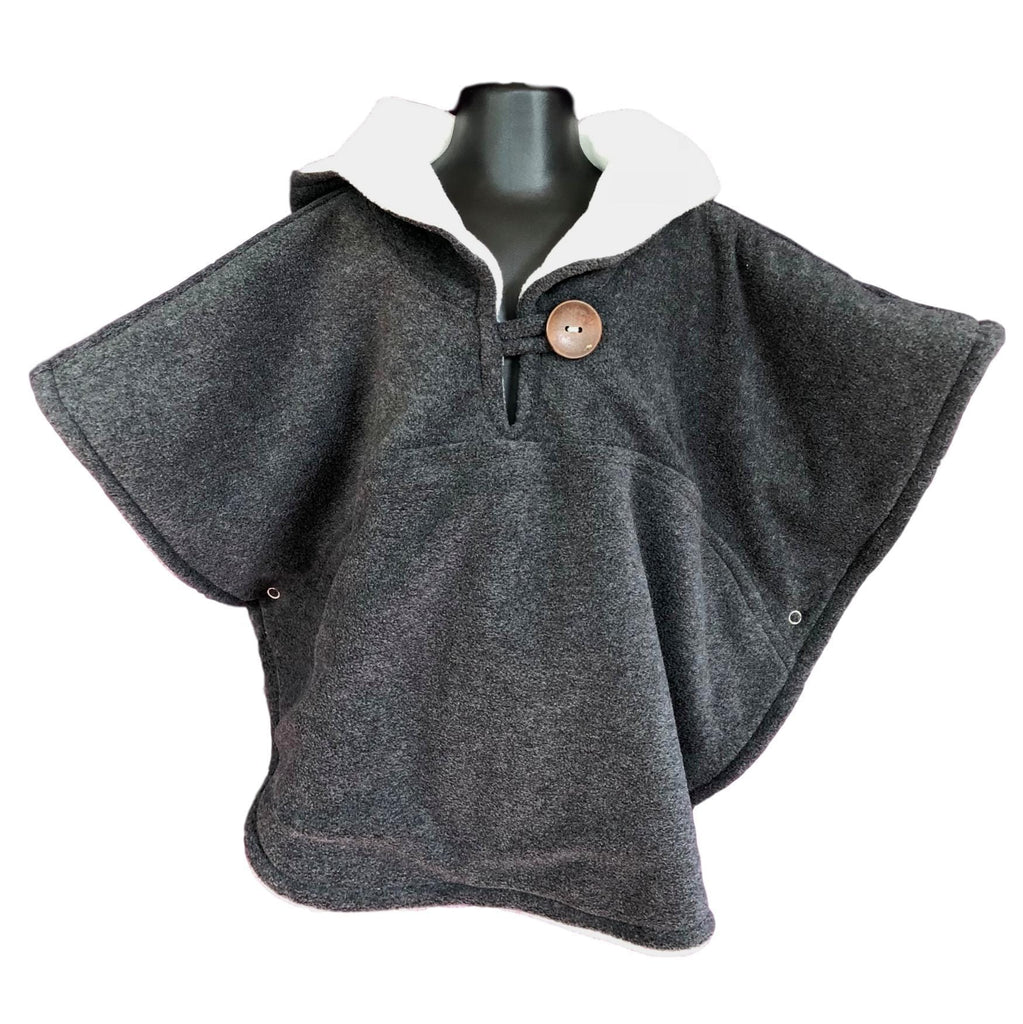 Toddler Poncho, Car Seat Poncho - Grey