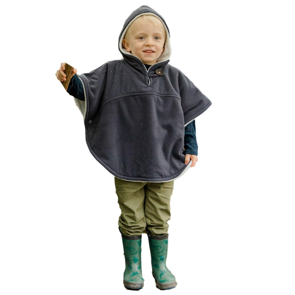 Toddler Poncho, Car Seat Poncho - Charcoal Grey