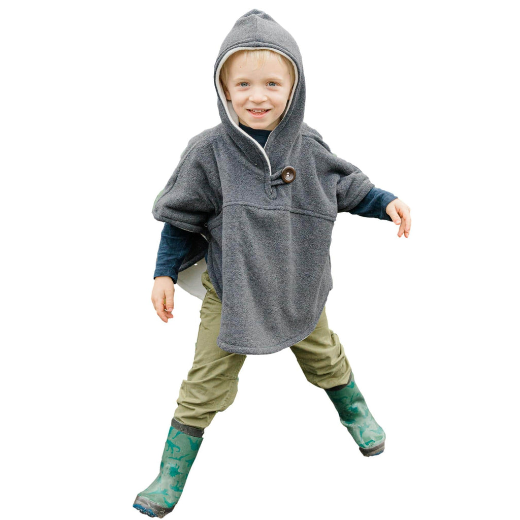 Toddler Poncho, Car Seat Poncho - Medium Grey