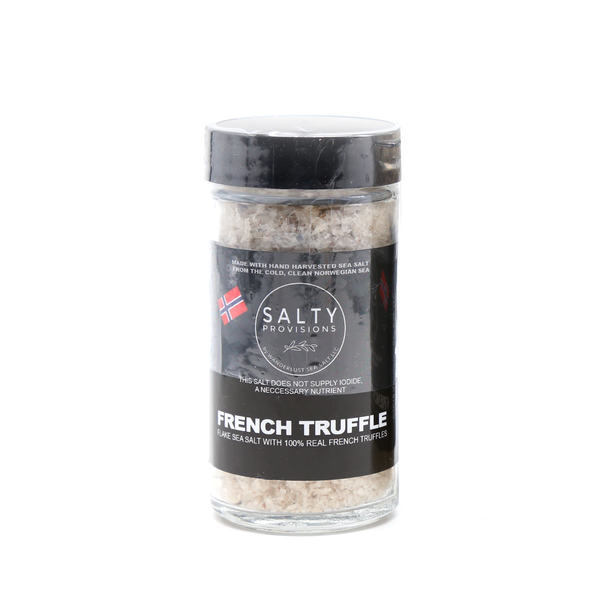 BLACK LABEL PREMIUM FRENCH TRUFFLE Infused Norwegian Flake Sea Salt
