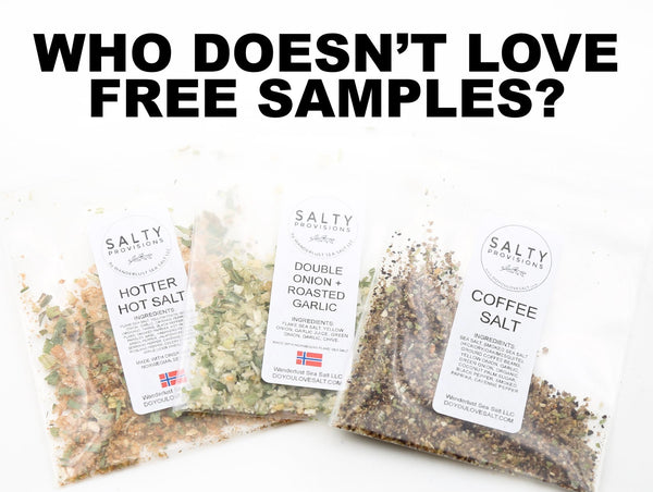 3 FREE SAMPLES* - A teaser of our Infused Sea Salts and Seasonings