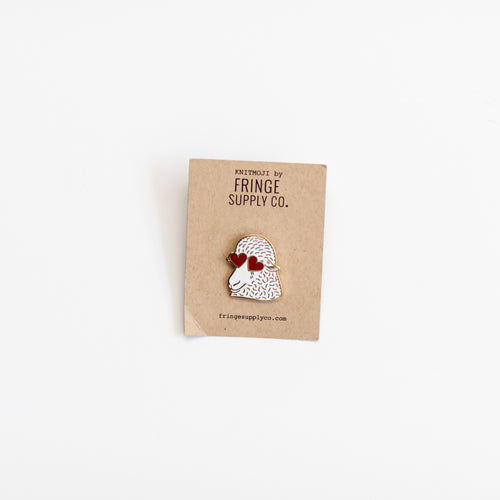 Knitmoji Fringe Supply Co. Pin