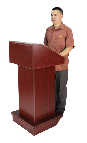 Podium With Wheels Convertible Design For Floor Or Tabletop