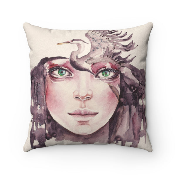 Leading the Way Faux Suede Square Pillow Case