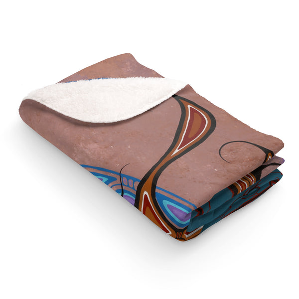 In Love with Life Sherpa Fleece Blanket