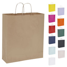 Pack of 10 Twisted Handle Kraft Paper Bags 36x12x41cm