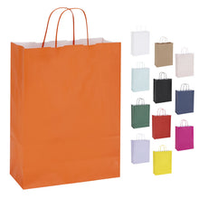 Pack of 10 Twisted Handle Kraft Paper Bags 26x11x34.5cm - 13 Colour/Print Options
