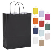 Pack of 10 Twisted Handle Kraft Paper Bags 22x10x29cm - 18 Colour/Print Options