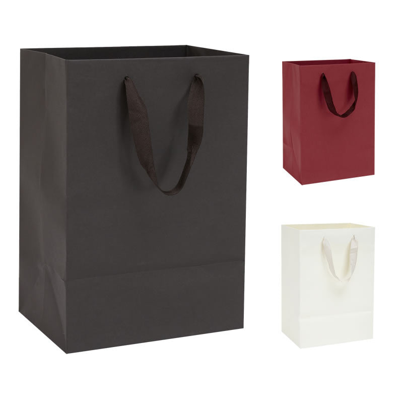 b107635a5a79 10 Handmade Kraft Paper Bags with Cotton Ribbon Handles – BORDERS HOMEWARES  by Mainetti UK