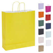 Pack of 10 Twisted Handle Kraft Paper Bags 36x12x41cm - 16 Colour/Print Options